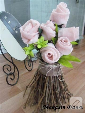 kumaş güller