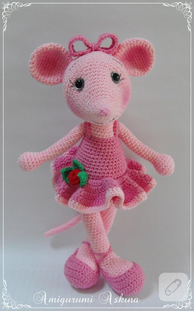 Amigurumi Balerin Fare Yapilisi : amigurumi oyuncak balerin fare - 10marifet.org