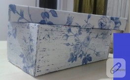 Kutu boyama – peçete dekupaj ve mumla eskitme