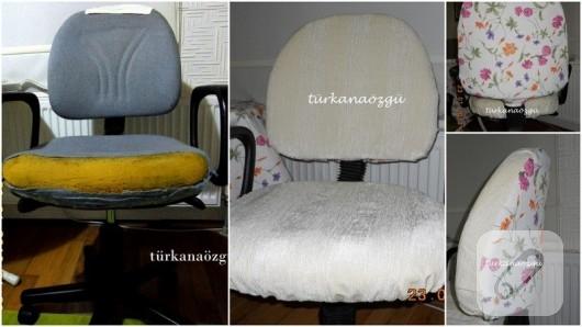 eski-sandalyeyi-cicekli-kumasla yenileme-calismasi
