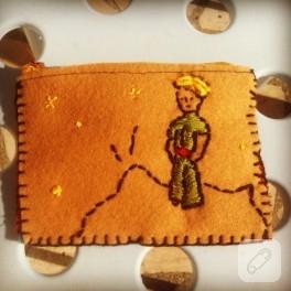 Keçeden Küçük Prens cüzdanı