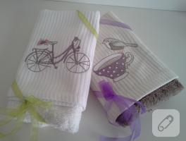 Misafir havlusu için bisikletli havlu kenarı