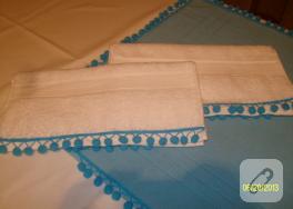 Ponponlu havlu kenarları