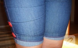 Skinny jean'den şort
