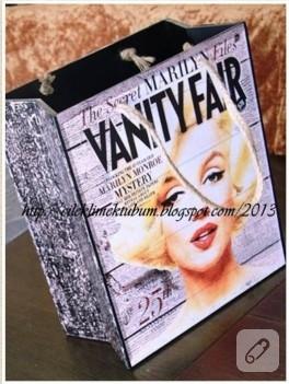Ahsap boyama Marilyn Monroe gazetelik/dergilik