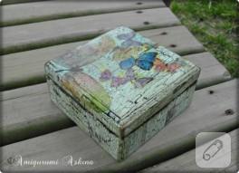 Boya çatlatma ile ahşap kutu boyama
