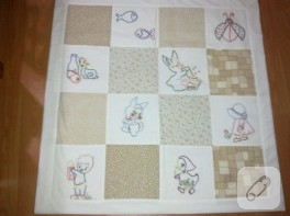 Kumaş değerlendirme fikri; bebek battaniyesi