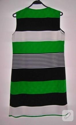 Yazlık sade çizgili elbise (dikiş)