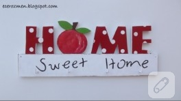 Home sweet home ahşap duvar süsü