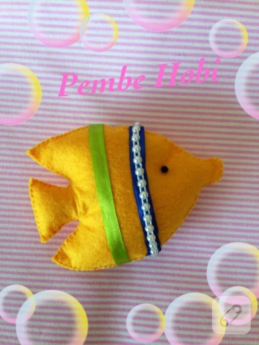 Keçe balık broş
