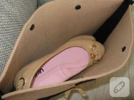 Keçe ayakkabı çantası