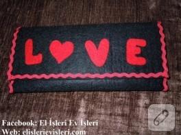 Love yazılı keçe çanta ve çekiliş haberim