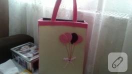 Balonlu keçe çanta