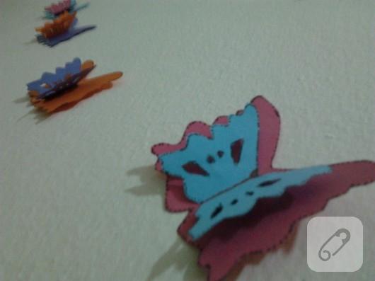 kelebekli duvar süsü