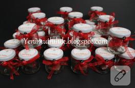 Kına hediyelikleri: mini kavanozlar