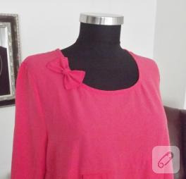 Kırmızı yazlık elbise – dikiş
