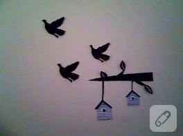 Sticker görünümlü duvar süsü