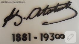 Evimdeki muhteşem imza