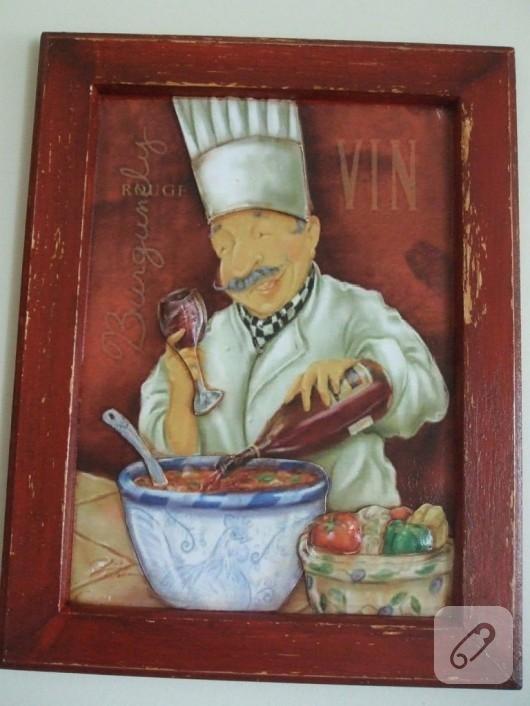 Aşçı temalı mutfak panoları
