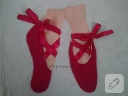 Balerin ayağı kumaş pano