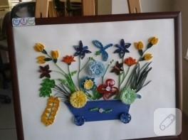 Quilling tablolarımıza devam…