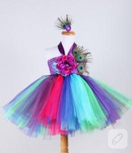 Tavuskuşu tütü elbise