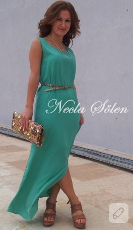 Uzun yeşil elbise (dikiş)