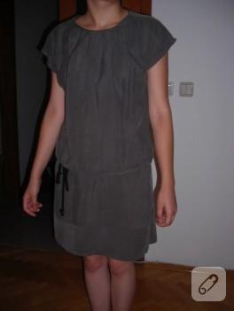 Düşük omuzlu yazlık elbise