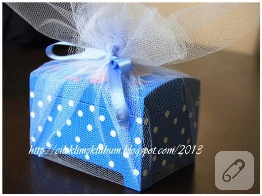 ahşap boyama mavi kutu