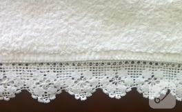 Beyaz dantel, klasik havlu kenarı örneği