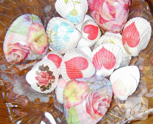 deniz kabuğu peçete dekupaj