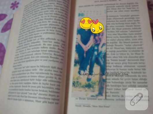 Fotoğraflı kitap ayracı
