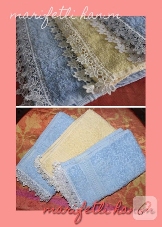 gupürlü havlu kenarı modelleri