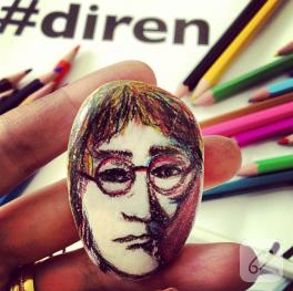 John Lennon taş boyama