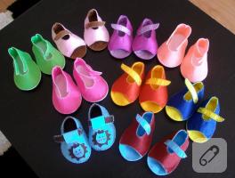Renk renk keçe bebek patik modelleri