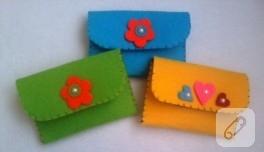 Rengarenk keçe cüzdanlar
