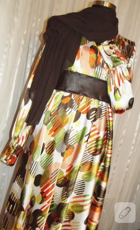kloş etekli elbise dikiş