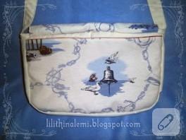 Denizci desenli postacı (messenger) çantası