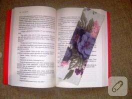 Kumaş değerlendirme fikri; kitap ayracı