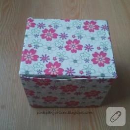 Yapışkanlı kağıtla dekoratif kutu yapımı