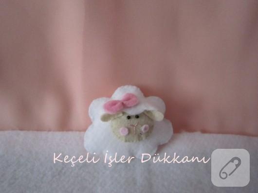 keçeden kuzu bebek şekeri