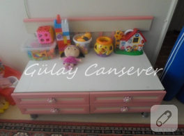 Eski beşikten çocuklarınıza çalışma masası
