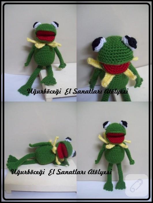 amigurumi kurbağa