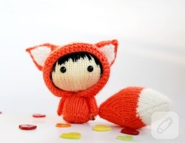 Örgü oyuncak küçük tilki