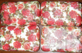 Peçet dekupaj tabak ve sabun örnekleri
