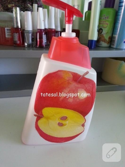 Peçete transfer ile sabunluk süsleme