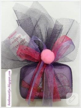 Mor doğum günü sabunu (sabun süsleme)