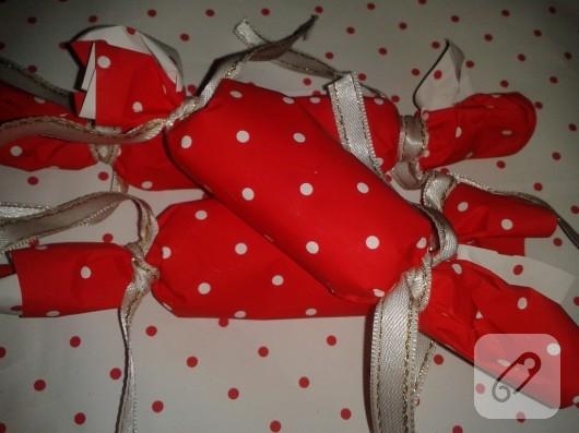 şeker şeklinde hediye paketi yapımı