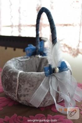 Sünnet düğünü için süslenmiş sepet