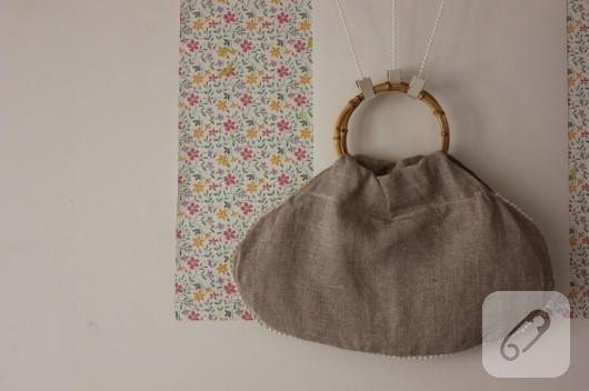 El yapımı vintage çanta